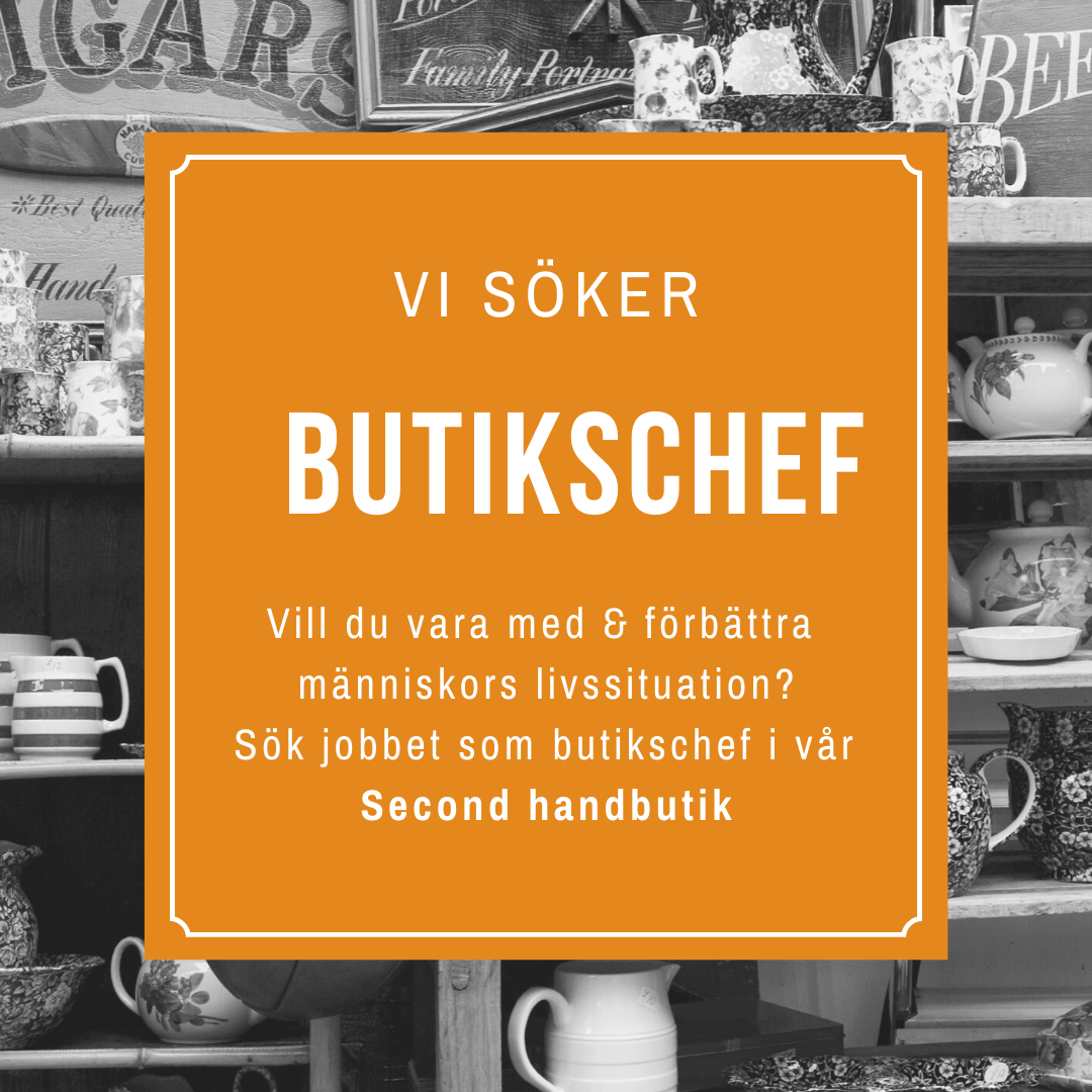 Butikschef på Second hand